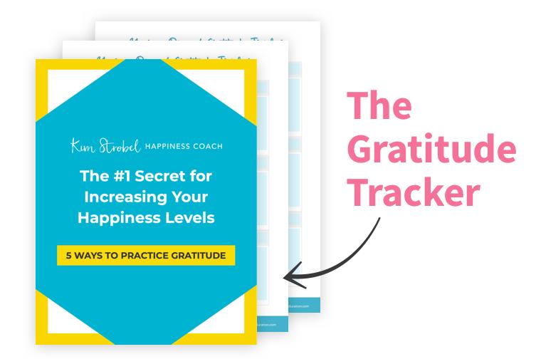 the gratitude tracker